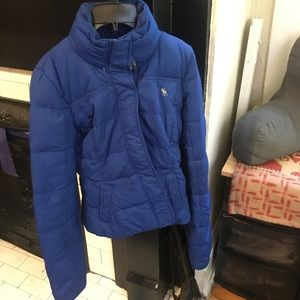 Blue down puffer jacket
